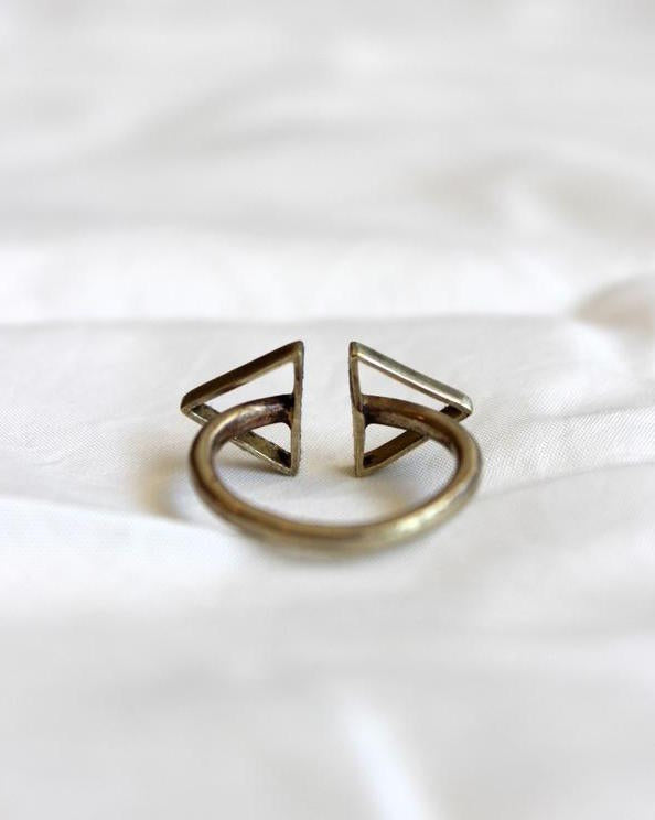 Moon + Arrow Double Arrow Ring