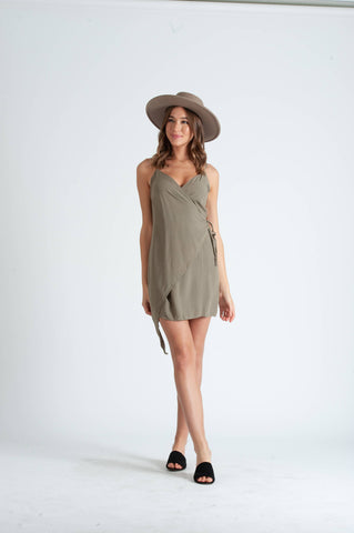 NYTT Steff Sage Wrap Dress