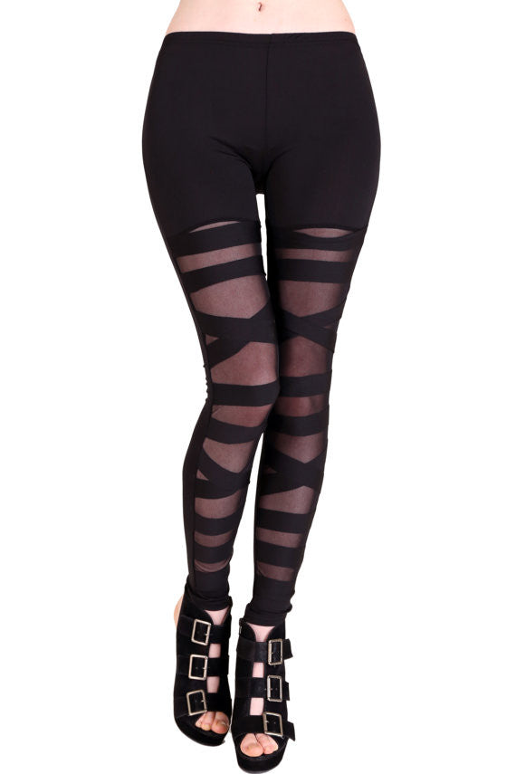 Tough Luv Mesh Bondage Leggings