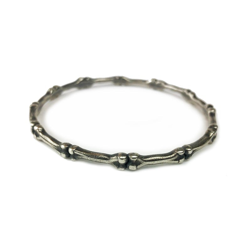 Hellhound Jewelry Burial Bangle Bracelet in Silver