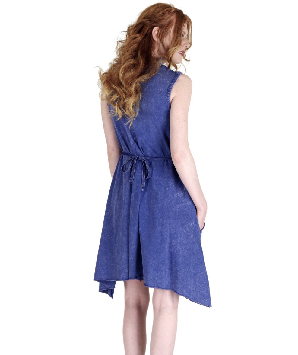 Tough Luv Goddess Dress in Blue