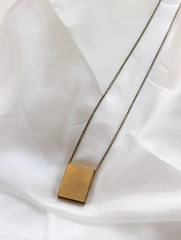 Moon + Arrow Large Block Necklace