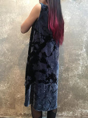 HE Collective Dyed Velvet Dress