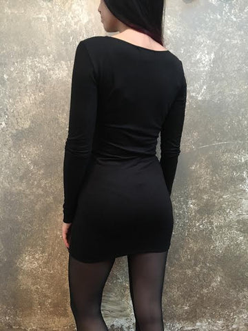 Bianca Rachele Black Knit Dress