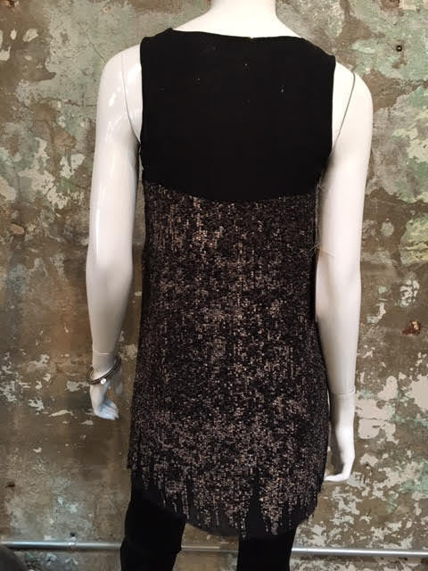 Katharine Roman Metallic Sequin Dress