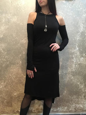 Bianca Rachele Cold Shoulder Slit Dress
