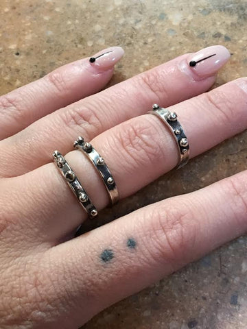 Hellhound Jewelry Studded Orbs Ring