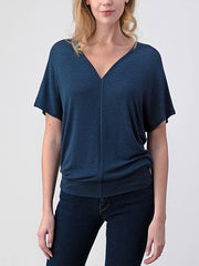 Natural Life V-Neck Navy Top