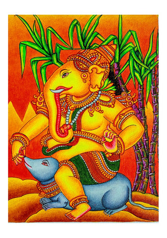 Hand Painted Kerala Mural Painting Design 11