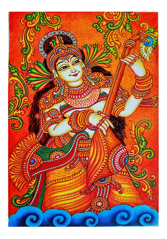 Hand Painted Kerala Mural Painting Design 20