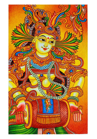 Hand Painted Kerala Mural Painting Design 21