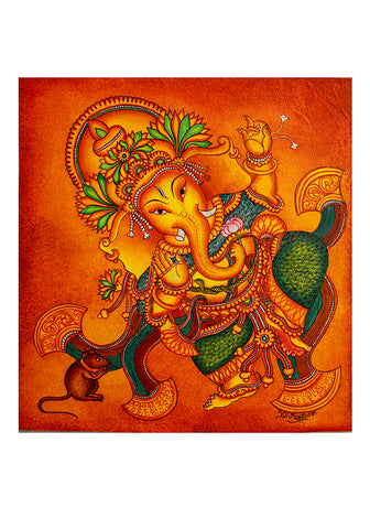 Hand Painted Kerala Mural Painting Design 7