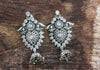 Sterling Silver Earrings with Stones Design 3