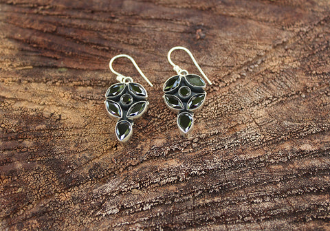 Sterling Silver Earrings with Stones Design 31
