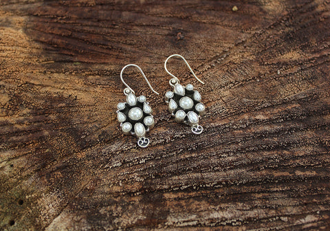 Sterling Silver Earrings with Stones Design 30