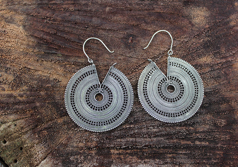 Sterling Silver Bali Earrings Design 1