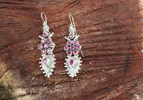 Sterling Silver Earrings with Stones Design 45