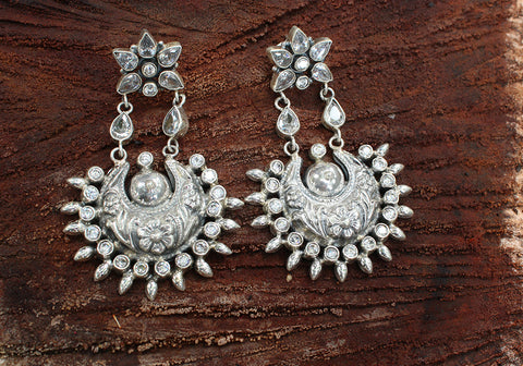 Sterling Silver Earrings with Stones Design 41