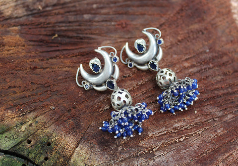 Sterling Silver Earrings with Stones Design 38