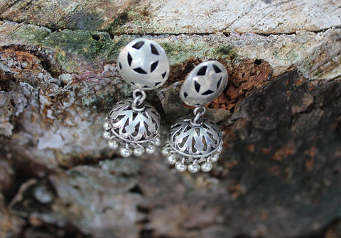Sterling Silver Daily Wear Jhumkas Design 2
