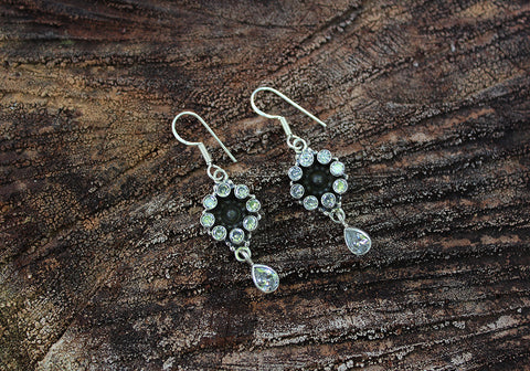 Sterling Silver Earrings with Stones Design 27