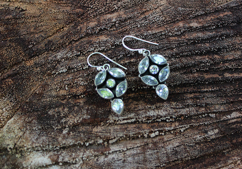 Sterling Silver Earrings with Stones Design 25