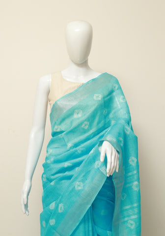 Linen Saree Design 2