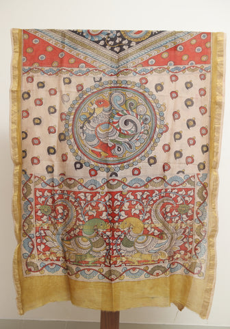 Chanderi Hand Painted Kalamkari Dupatta Design 2