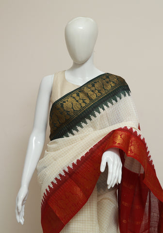 Sungudi Saree Design 156