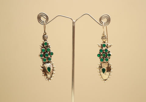 Sterling Silver Earrings with Stones Design 42
