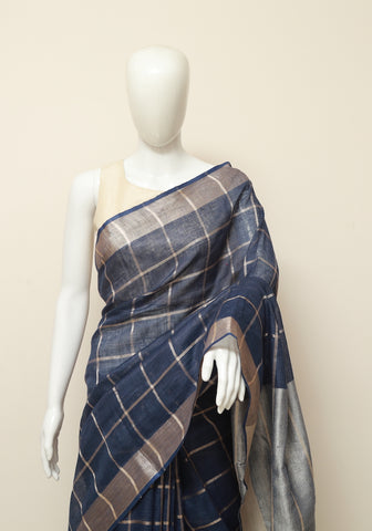 Linen Saree Design 3