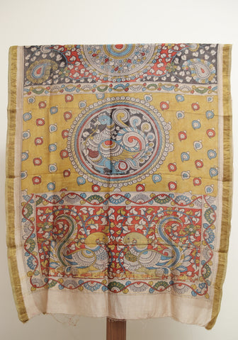 Chanderi Hand Painted Kalamkari Dupatta Design 5