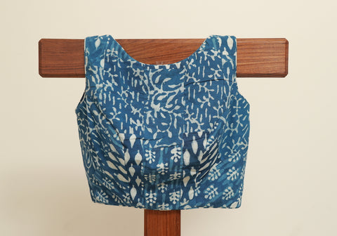 Block Printed Indigo Blouse Design 3