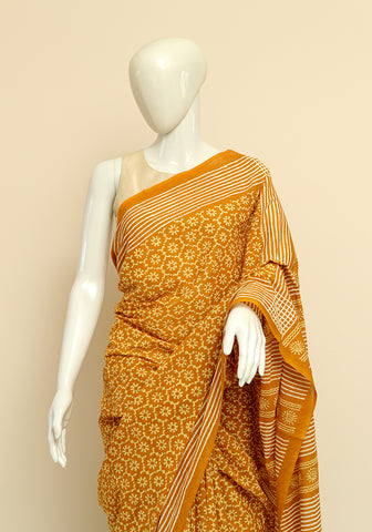 Block Printed Mul Cotton Saree Design 19