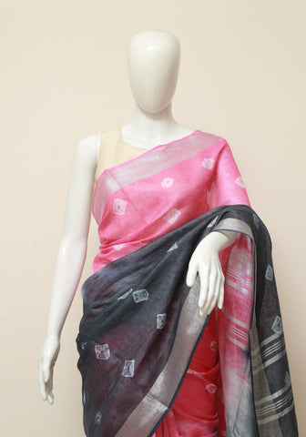 Linen Saree Design 4