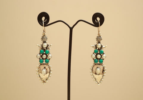 Sterling Silver Earrings with Stones Design 55
