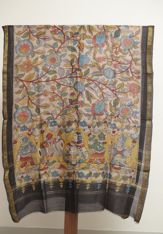 Chanderi Hand Painted Kalamkari Dupatta Design 8