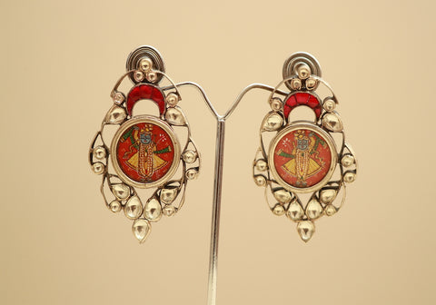 Sterling Silver Earrings with Stones Design 56