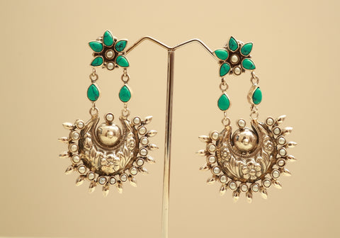 Sterling Silver Earrings with Stones Design 57