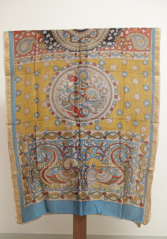 Chanderi Hand Painted Kalamkari Dupatta Design 9