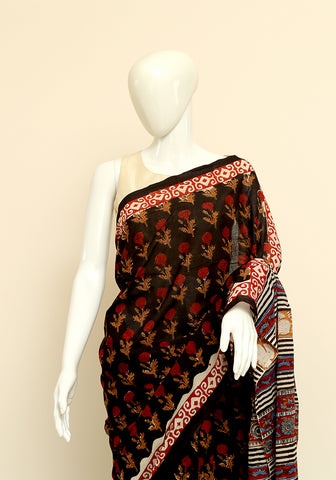 Block Printed Mul Cotton Saree Design 22