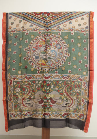 Chanderi Hand Painted Kalamkari Dupatta Design 10