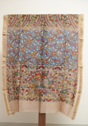 Chanderi Hand Painted Kalamkari Dupatta Design 11