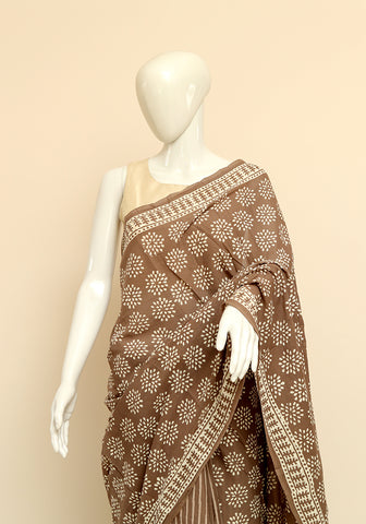 Block Printed Mul Cotton Saree Design 24