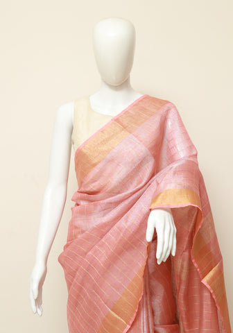 Linen Saree Design 7