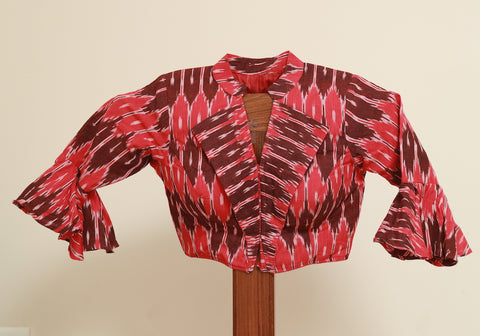 Ikat Ready Made Blouse Design 8