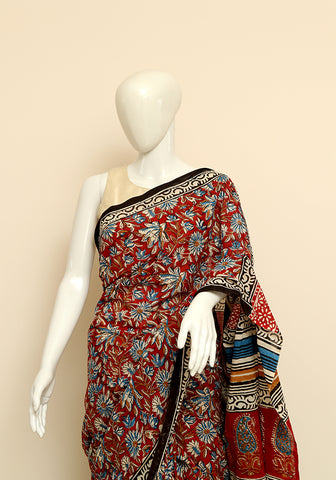 Block Printed Mul Cotton Saree Design 34