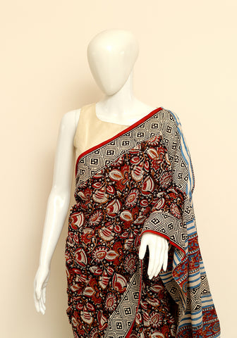 Block Printed Mul Cotton Saree Design 30