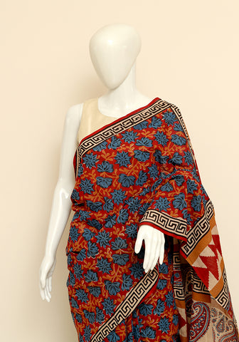 Block Printed Mul Cotton Saree Design 35