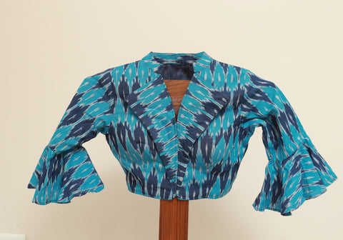 Ikat Ready Made Blouse Design 4